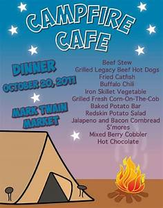 cub scout blue and gold program template - nice idea for blue gold campfire theme invite menu