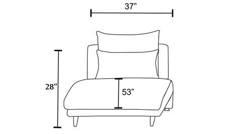 dimension chaise palms modular chaise fabric cushions leatherette black