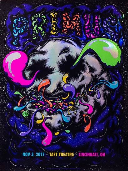 Primus Poster Theatre Taft Rainbow Cincinnati Indigo