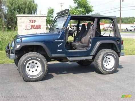2001 patriot blue pearl jeep wrangler sport 4x4 15127086 gtcarlot car color galleries