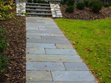 bluestone walkway patterns how to build a stone walkway bob vila