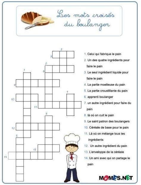 jeux de fille cuisine et patisserie gratuit en francais les mots croisés du boulanger école mots