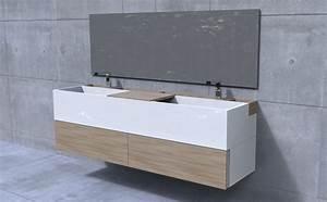meuble sous vasque salle de bain 35 solutions design With salle de bain design avec meuble sous vasque double salle de bain