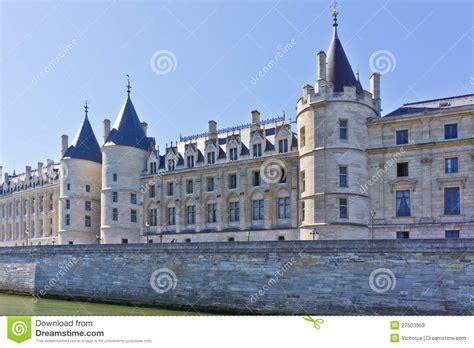 Castle Conciergerie Former Royal Palace Paris Stock