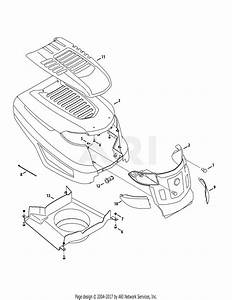 Troy Bilt 13aaa1kt066 Tb2246  2015  Parts Diagram For Hood
