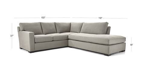 axis ii 2 piece right bumper sectional sofa douglas