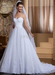 new arrival custom made a line sweetheart beaded sash With custom wedding dress online