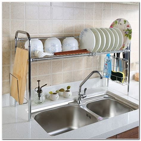 over the sink drying rack hanging dish rack over sink sink and faucet home
