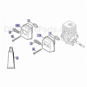Stihl Fs 55 Brushcutter  Fs55  Parts Diagram  Muffler