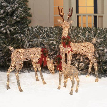 holiday time christmas decor set   woodland vine deer