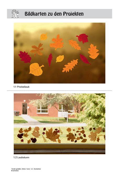 Herbst Fenster Gestalten by Arbeitsbl 228 Tter 183 Grundschule 183 Lehrerb 252 Ro