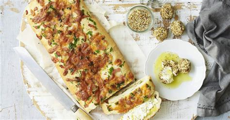 cheese  bacon focaccia  labneh