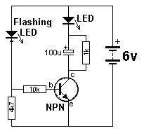 Transistor Circuits Blinking Led Circuit
