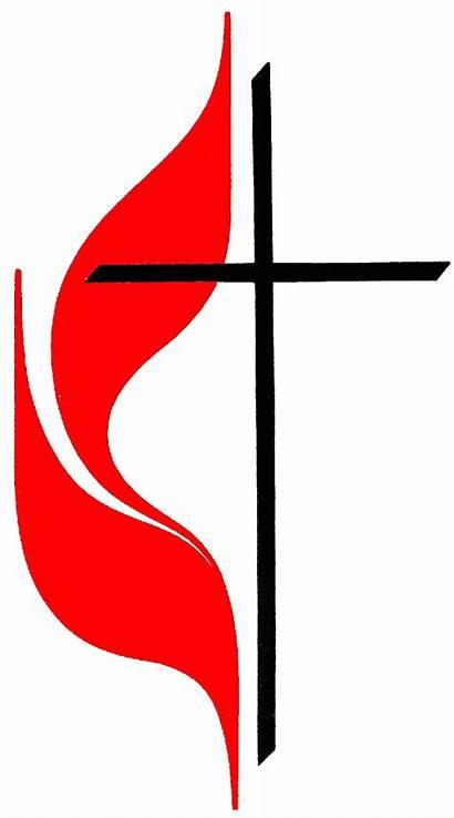 Methodist Cross Church United Clip Symbol Flame