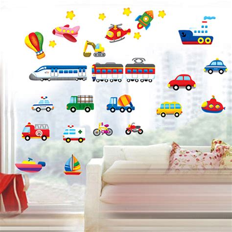 stickers deco chambre garcon car flower vine diy vinyl wall stickers for