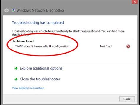 ip türsprechanlage wlan fix wifi doesn t a valid ip configuration error in windows 7 8 10