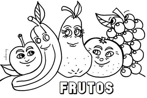 Desenhos de Frutas para Imprimir e Colorir Toda Atual