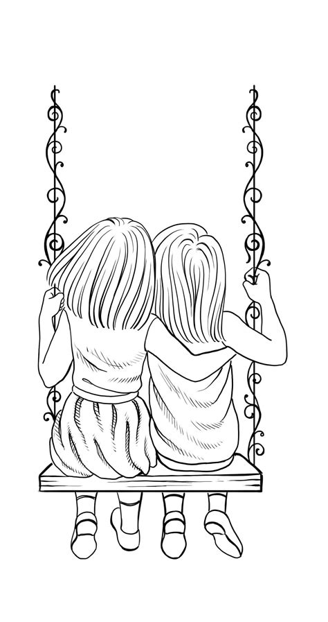 niñas columpio lineas tatuaje girls swing lines tattoo in