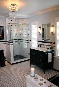 black and white contemporary traditional bathroom With houzz black and white bathroom