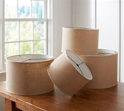 pottery barn burlap l shade burlap straight sided drum l shade pottery barn