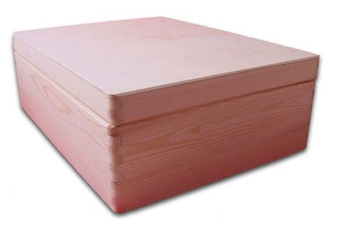 aufbewahrungsbox holzkiste mit deckel ohne griffl 246 cher kiefer gr 2 serviettentechnik