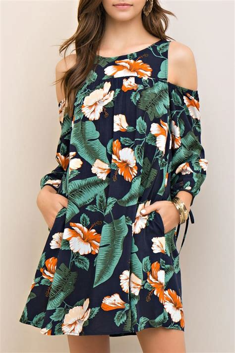 high neck dresses entro cold shoulder hawaiian dress from iowa by alissa