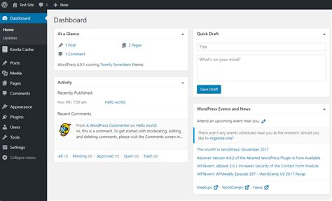 wordpress admin dashboard overview  tips