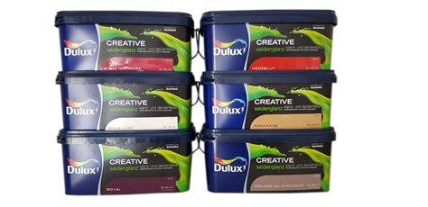 Seidenglanz Farbe überstreichen by Dulux Creative Wand Und Deckenfarbe Seidengl 228 Nzend 2 5 L