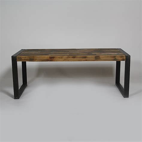 table basse industrielle metal et bois table basse industrielle bois color 233 et m 233 tal made in meubles