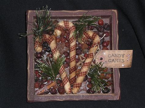 Set Of 3 Primitive Christmas Holiday Homespun Candy Canes Living Room Ideas With Dark Carpet And Dining Renovation Uplighting Rent Qatar Photos Fireplace Nyc Rooms Decorating Picture Frames For Lighting In