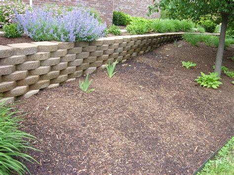 landscape retaining wall options work tri