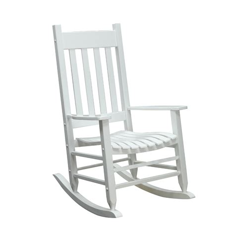 white front porch rocking chairs shop garden treasures patio rocking chair at lowes com