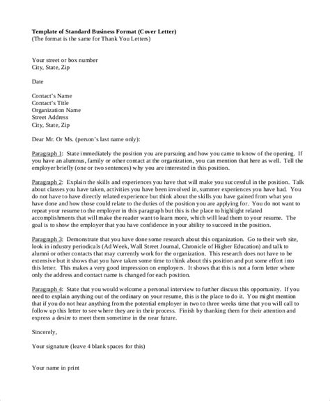 Cover Letter Format by Cover Letter Format 17 Free Word Pdf Documents