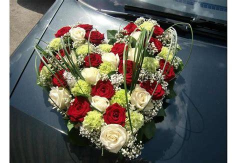 cœur pour voiture fleurs mariage des fleurs des cadeaux