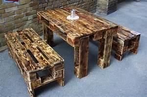 Bar Aus Holzpaletten : palettentisch mit b nken m bel aus paletten paletten ~ A.2002-acura-tl-radio.info Haus und Dekorationen