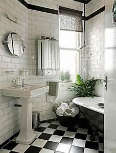 21 victorian black and white bathroom floor tiles ideas With white and black tile bathroom