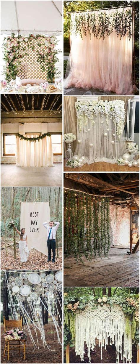 Diy Rustic Backdrop by 30 Unique And Breathtaking Wedding Backdrop Ideas
