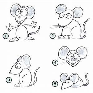 Drawing a cartoon mouse