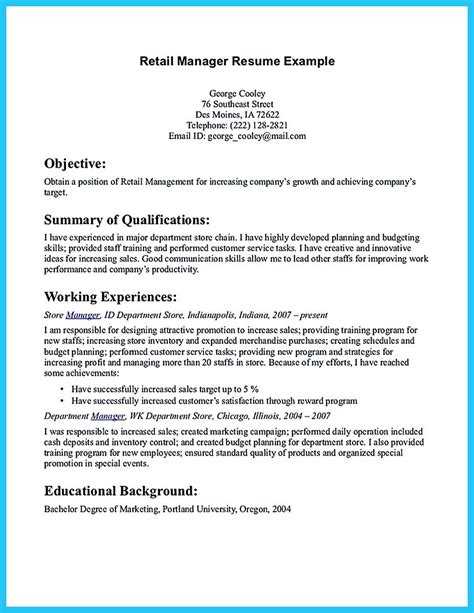 start writing assistant store manager resume