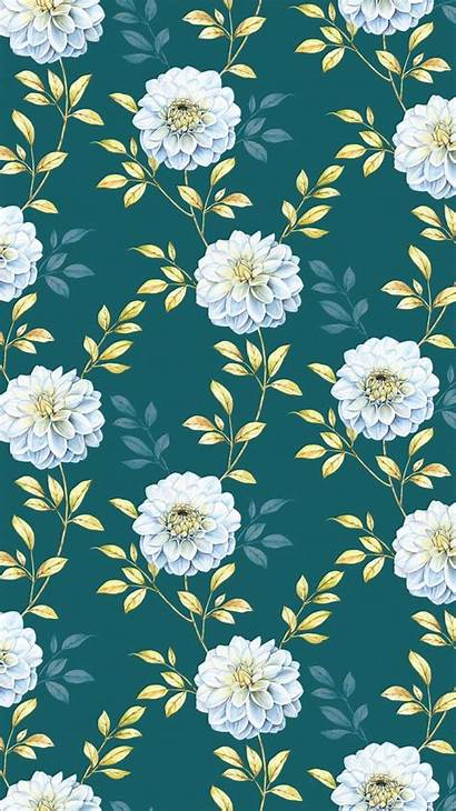 Iphone Flower Floral Wallpapers Background Backgrounds Pattern