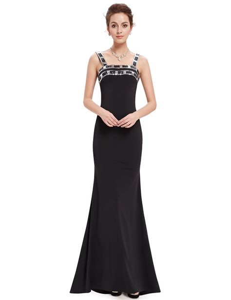 Ever Pretty Long Black Evening Formal Cocktail Party Prom