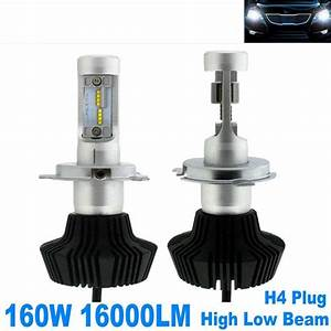 Pair 160w 16000lm Led Headlight Bulbs H4 9003 Plug Bulb White 6000k Hi  L A