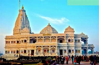 Vrindavan Mandir Prem Temple Mathura Night Uttar