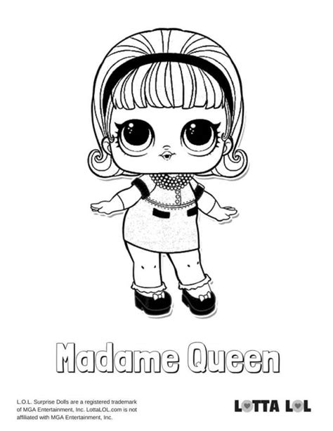 madame queen lol coloring page lotta lol