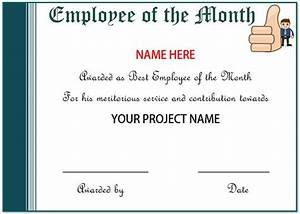 Recognition Certificate Wording Certificate Of Appreciation For Employees Printable