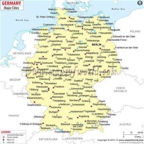 map  german cities google search maps pinterest