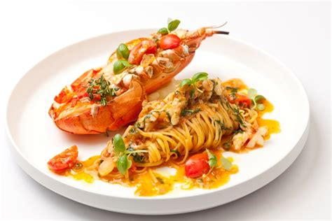 cuisine spaghetti lobster tagliatelle recipe great chefs
