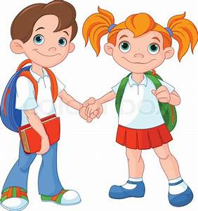 School Boy And Girl Clipart (28+)