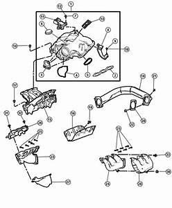 Dodge Grand Caravan Gasket  Intake Plenum  Engine  Manifolds  Exhaust
