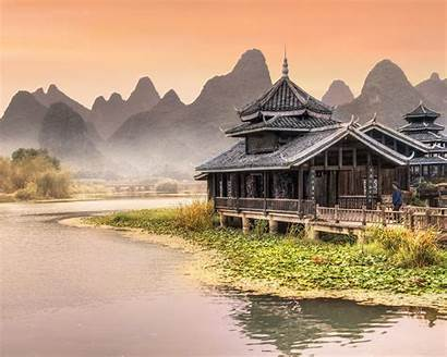 River Near Wallpapers Amusement Yangshuo Reconstruction Tablets
